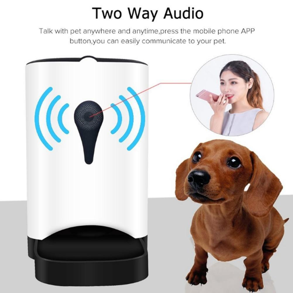 EU 4.5L Wifi Remote Control Smart Automatic Pet Feeder With Video Monitor - 4aces Gadets