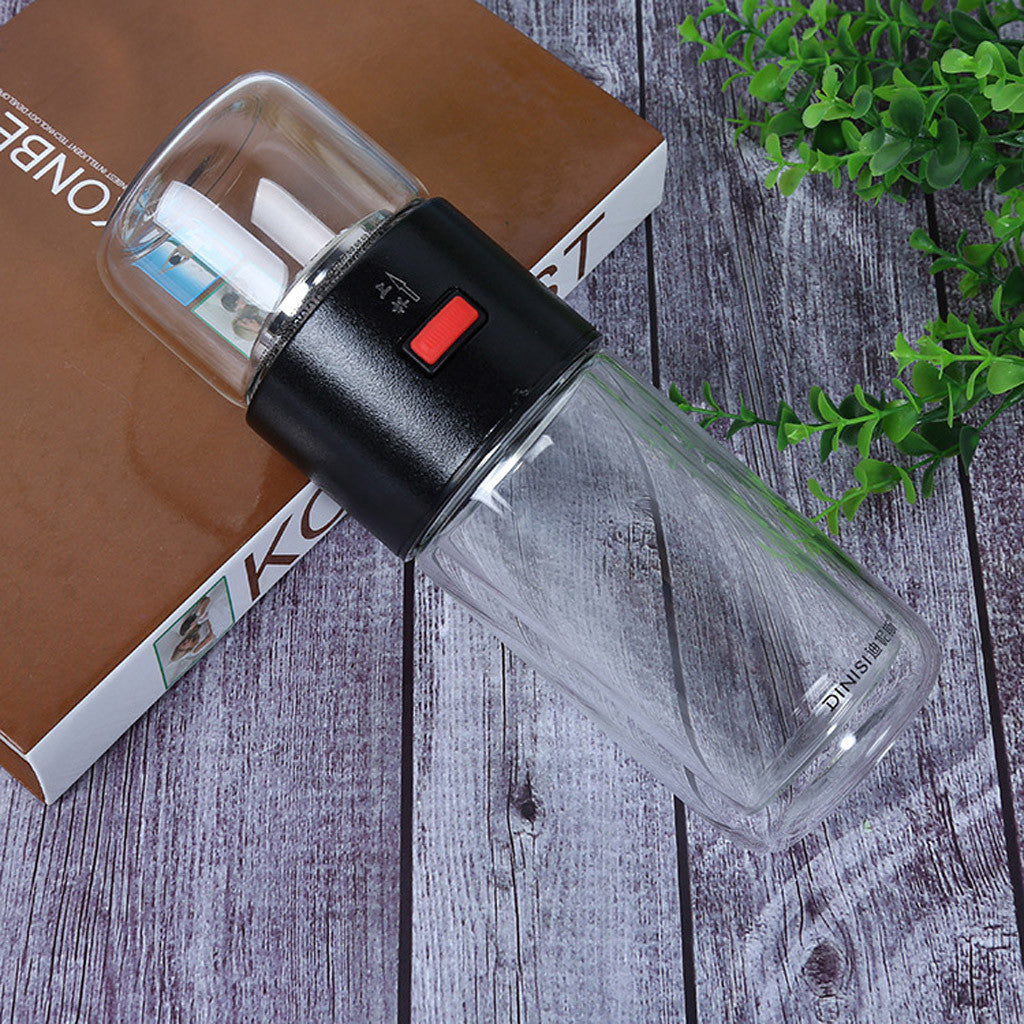 Double Glass Water Bottle Tea Water Separation Cup