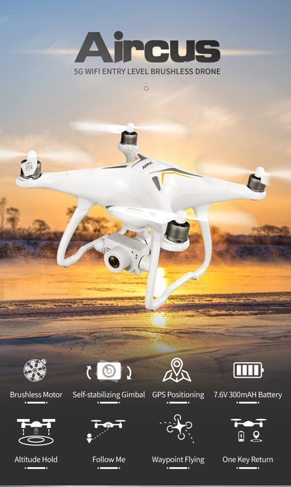 GPS Drone Brushless Professional 5G Follow Me WiFi FPV 1080P HD camera - 4aces Gadets