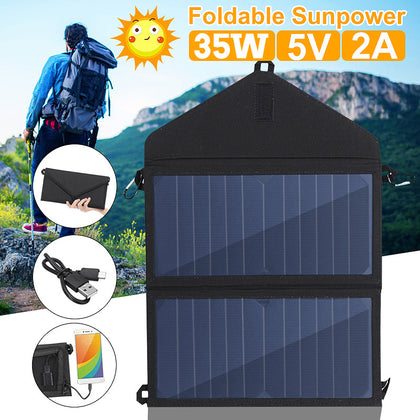 5V Solar Panel Sun Power Charger USB Output for Smartphones - 4aces Gadets