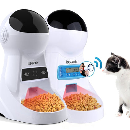Automatic Pet Feeder LCD or WIFI with Voice Record - 4aces Gadets
