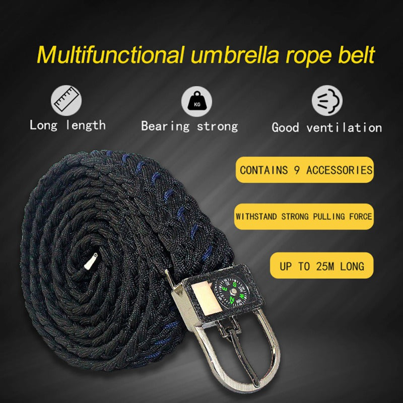 Survival Nylon Braided Belt For Outdoor Hiking or Camping - 4aces Gadets
