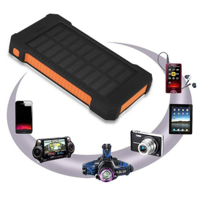 Dual-USB Waterproof Solar Phone Power Bank - 4aces Gadets