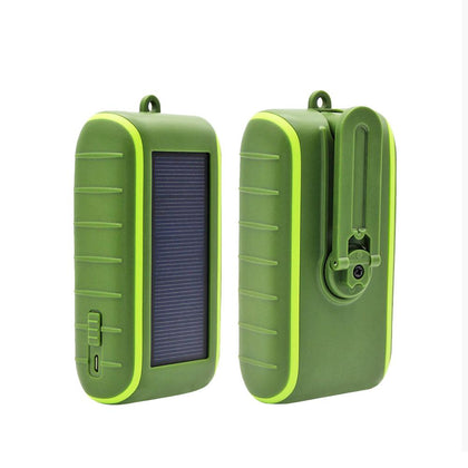 Emergency Hand-cranked Solar Power Bank Mobile Phone USB Charging Power Pack - 4aces Gadets