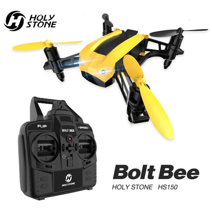 Holy Stone HS150 Racing Drone High Speed 50Km/h Drone RC Helicopter RTF 2.4GHz RC Quadcopter Wind Resistance With 2 Battery - 4aces Gadets
