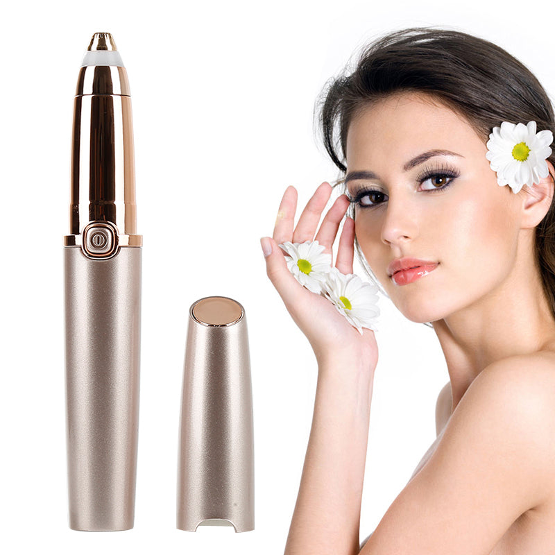 Painless Electric Eyebrow Trimmer with LED Light