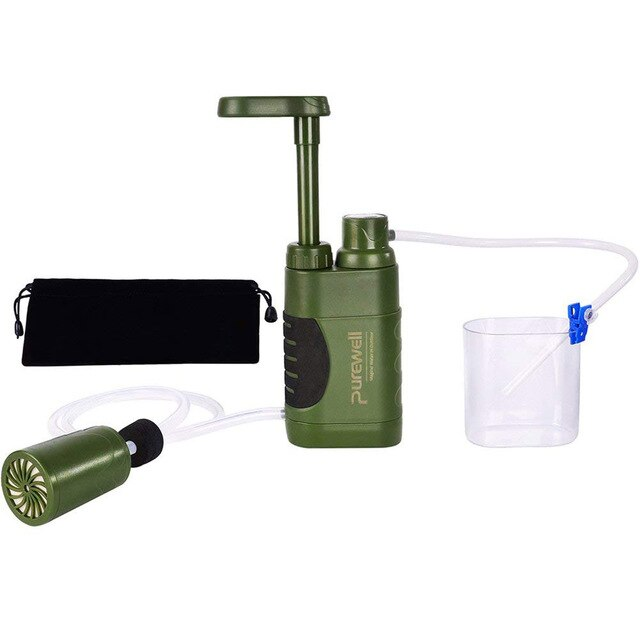 Water Filtration Purifier for Outdoor Survival Emergency Camping Hiking - 4aces Gadets
