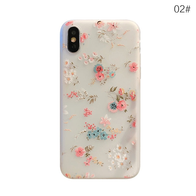 Silicone Floral Cute Case for IPhone X 10