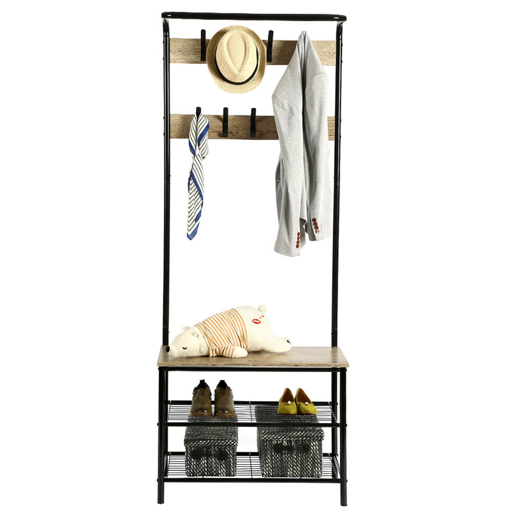 Metal Display Stand with Protective Paint for Home Storage Simple Coat Rack  black