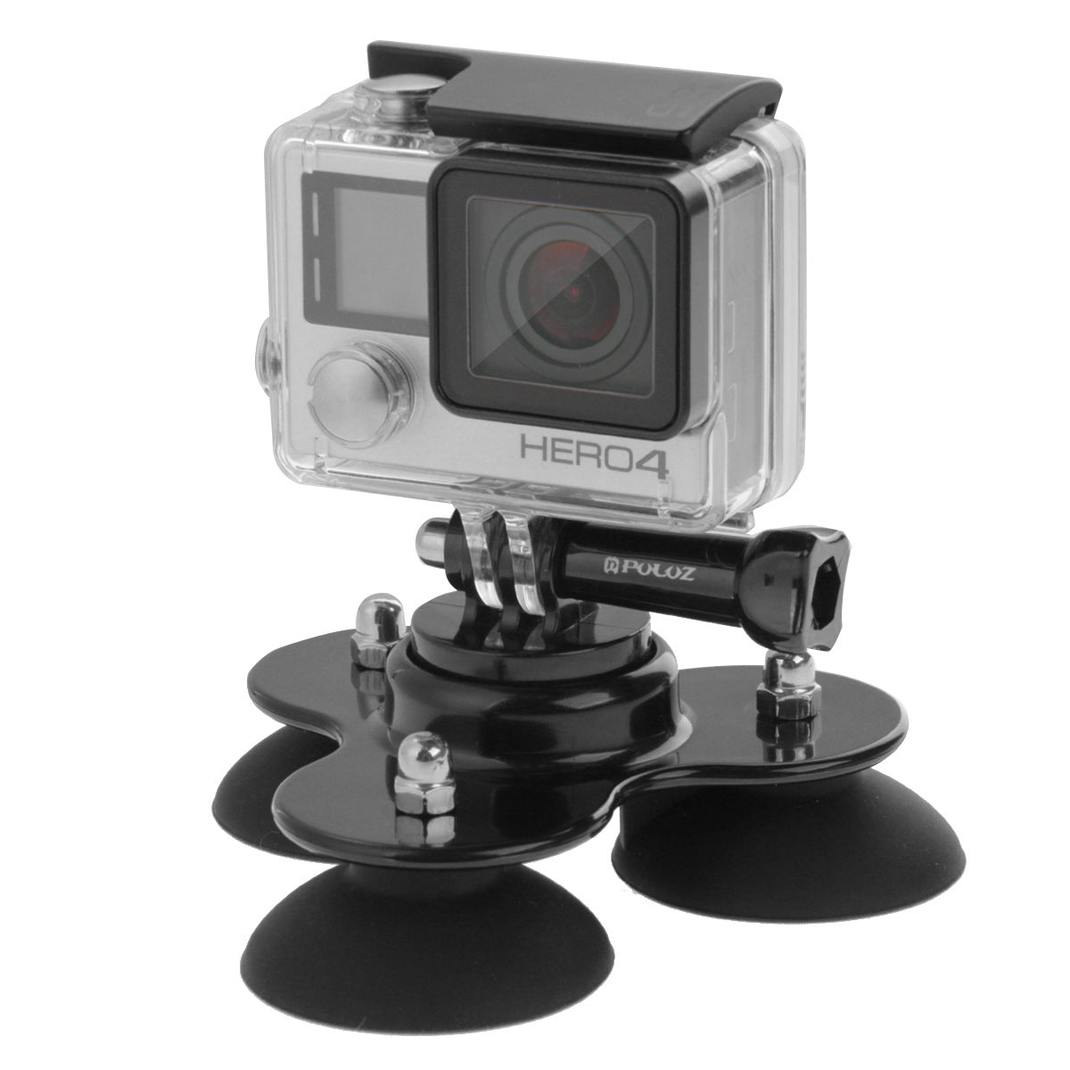 Mount Holder for GoPro HERO 6 5 4 3+ 3 2 SJCAM SJ4000 Triangle Screw Suction Cup Camera Stand Go Pro Accessories in Car black