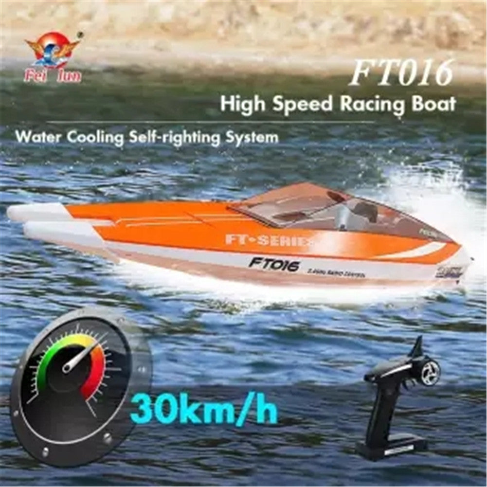 FT016 2.4G 30km/h Wireless High Speed RC Racing Boat Toy for Kids Adults green