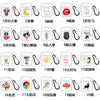 For AirPods 1/2 Headphones Case Cartoon Transparent Earphone Shell with Metal Hook Full Protection 3 cats
