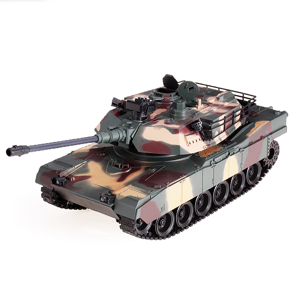 RBR/C M1A2 1/18 2.4G RC Vehicle Main Battle Remote Control Car Model Electronic Hobby Boy Toys green