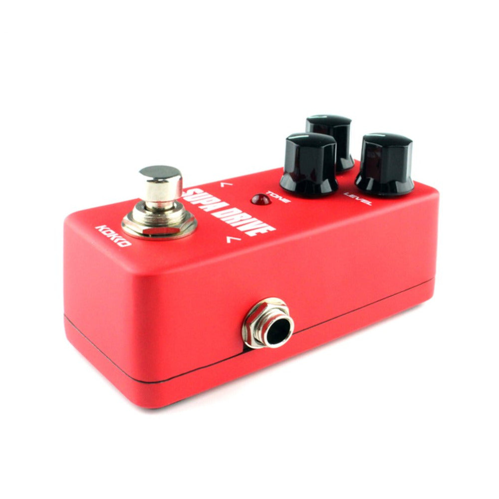 KOKKO FOD5 Mini Supa Drive Electric Guitar Effect Pedal Warm and Clean Overdrive Effect Sound Processor  FOD5 red