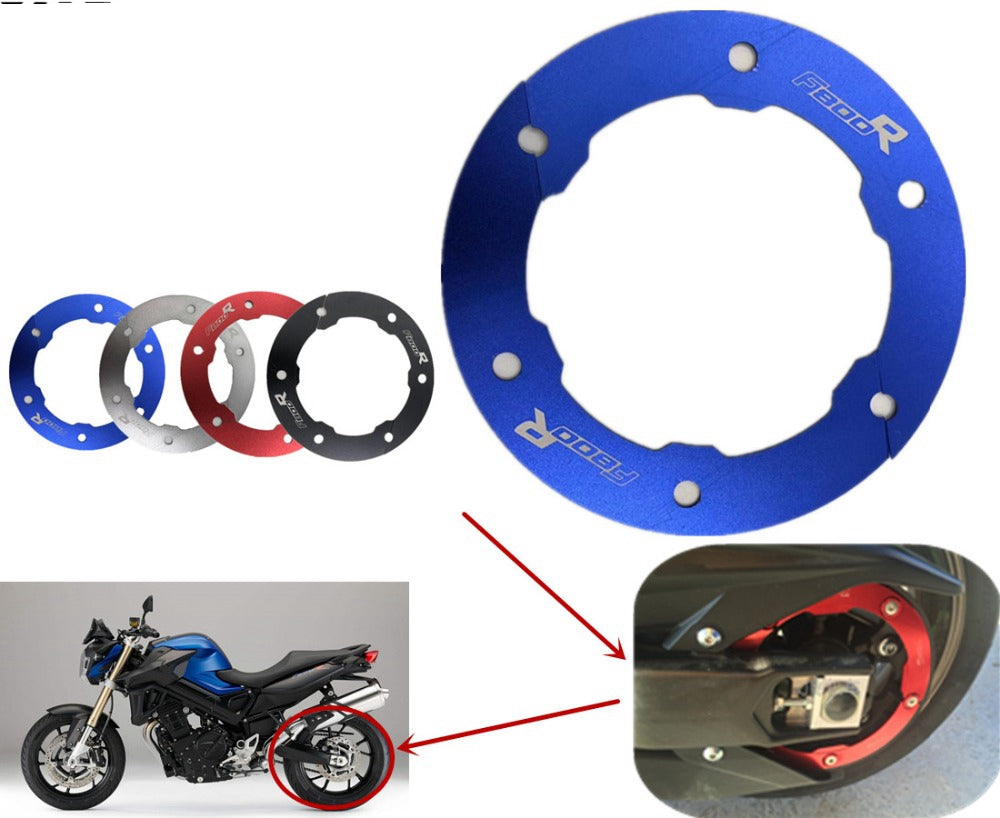 Motorcycle Transmission Belt Pulley Protective Cover Rear Chain Gear Decorative Cover for BMW F800R 2009-2017 red