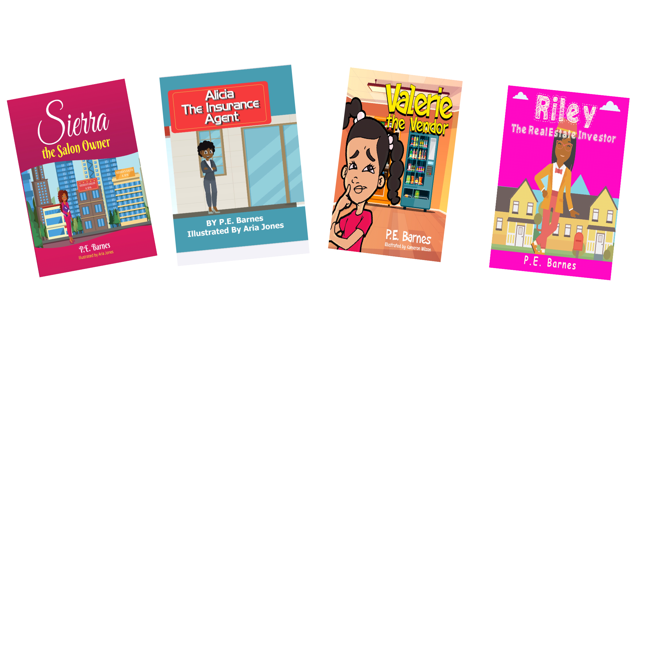 4 Books Little Owners Girls Series Collection