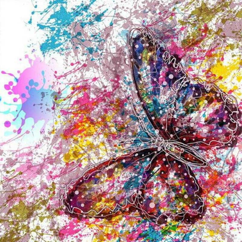 Butterfly Paint Splat Diamond Painting Kit - The Diamond Painting Factory