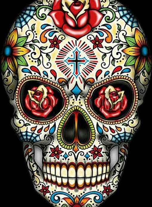 Colourful Skull Diamond Painting Kit - The Diamond Painting Factory