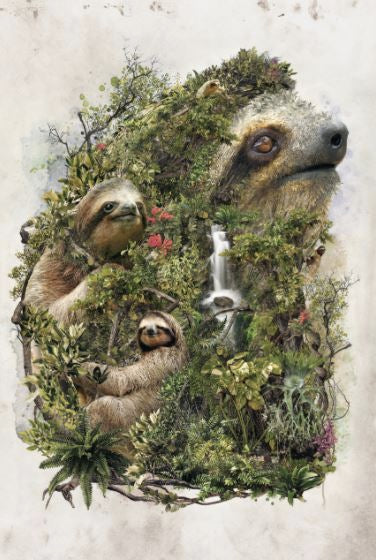 EXCLUSIVE BARRETT BARRETT BIGGERS Surreal Sloth - The Diamond Painting Factory