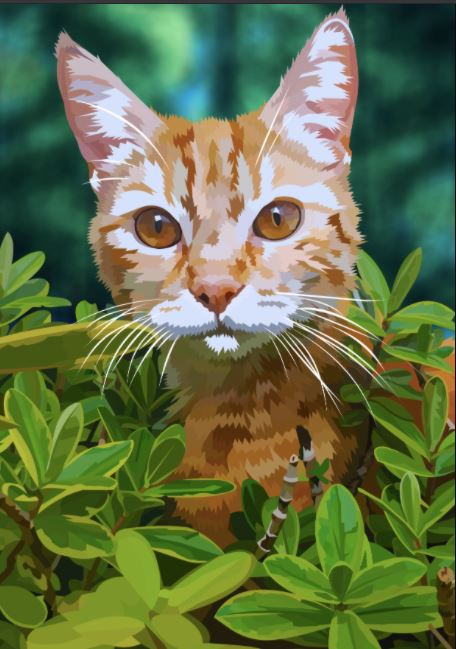 EXCLUSIVE Elvira Clement - Fender the Bush Cat - The Diamond Painting Factory