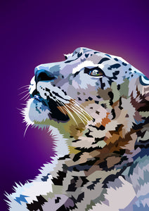 EXCLUSIVE Elvira Clement - Staring Snowleopard - The Diamond Painting Factory