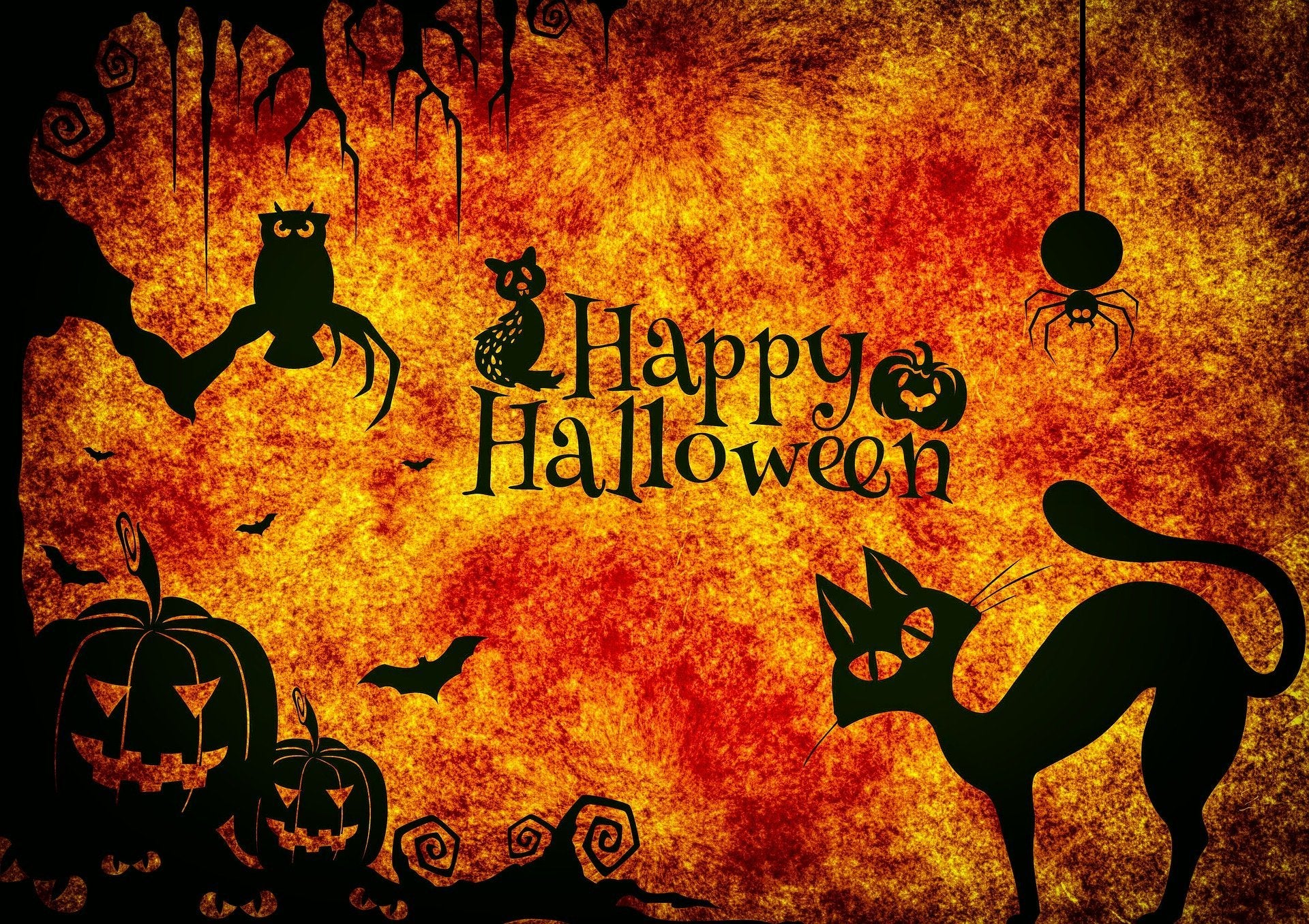 Happy Halloween Shadows Diamond Painting Kit - The Diamond Painting Factory