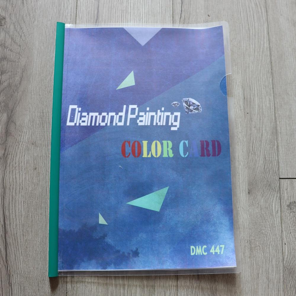 HD Printed 447 DMC Chart Colour Code Book - The Diamond Painting Factory
