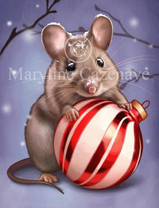 Maryline Cazenave Christmas Mouse Diamond Painting Kit