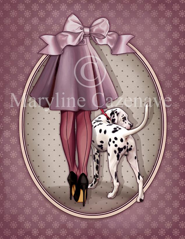 Maryline Cazenave Dalmatian Diamond Painting Kit