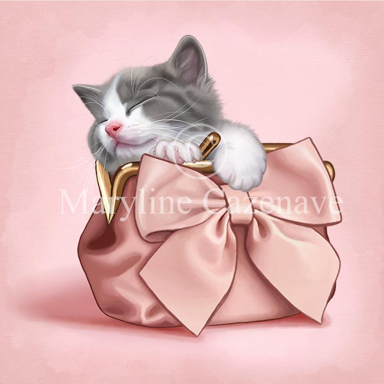 Maryline Cazenave Purse Kitten Diamond Painting Kit