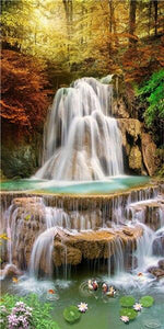 Stunning Waterfall 5D High-Res Diamond Painting Kit - The Diamond Painting Factory