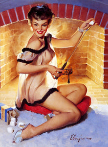 Toasty Pinup Diamond Painting Kit - The Diamond Painting Factory
