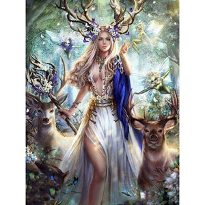 UK STOCK Woodland Princess Diamond Painting Kit - The Diamond Painting Factory