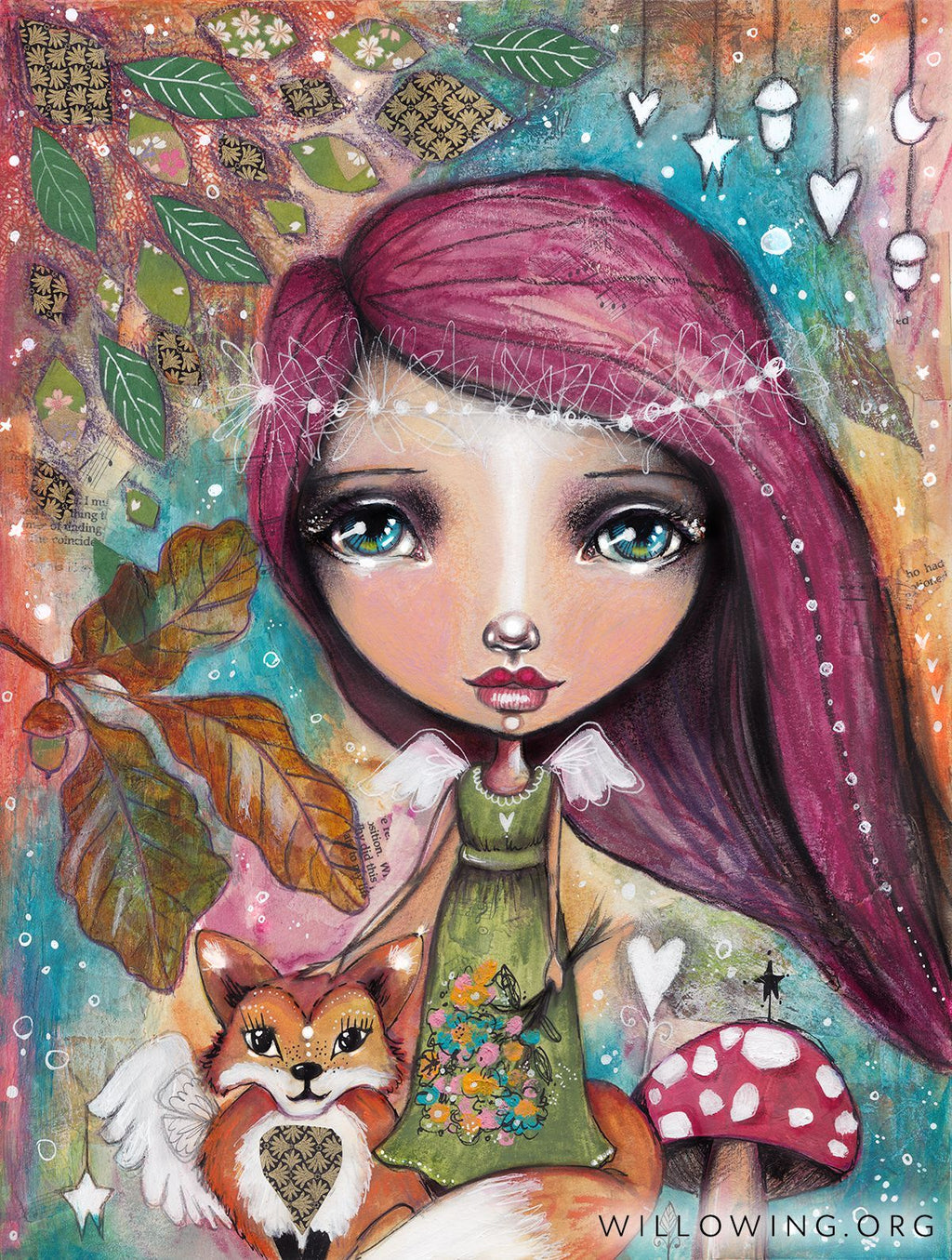 Willowing Arts Autumn Fairy with Fox Diamond Painting Kit - The Diamond Painting Factory