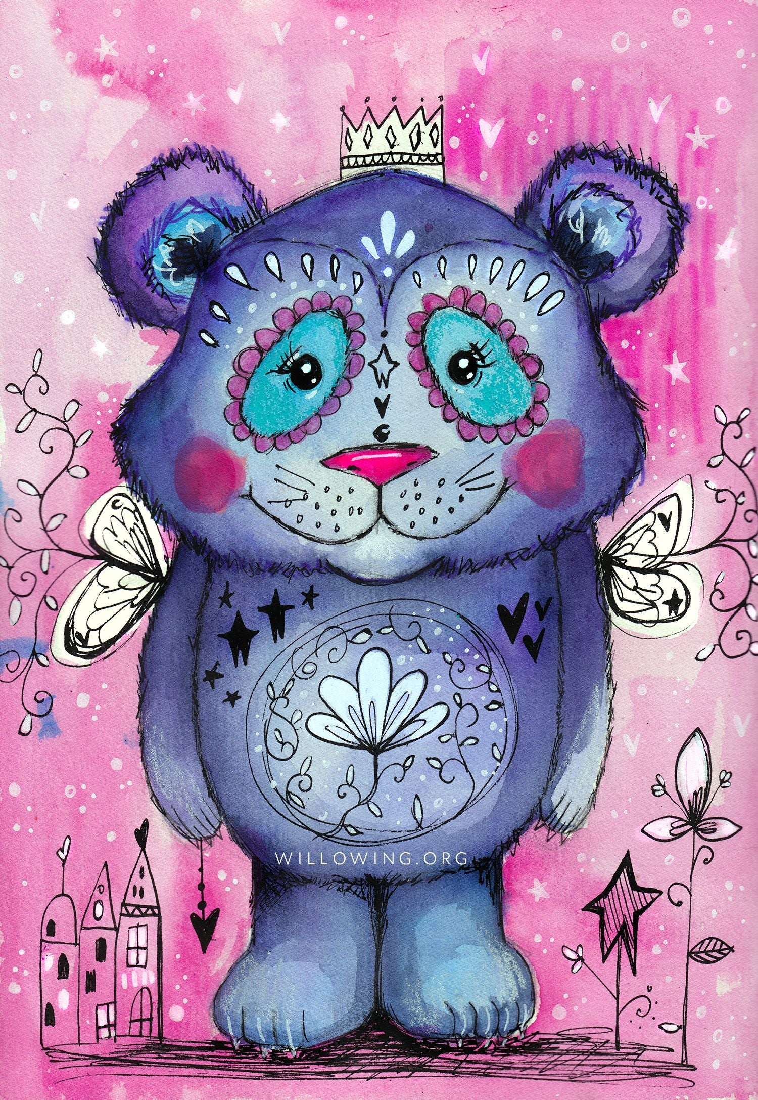 Willowing Arts Cute Bear Diamond Painting Kit - The Diamond Painting Factory