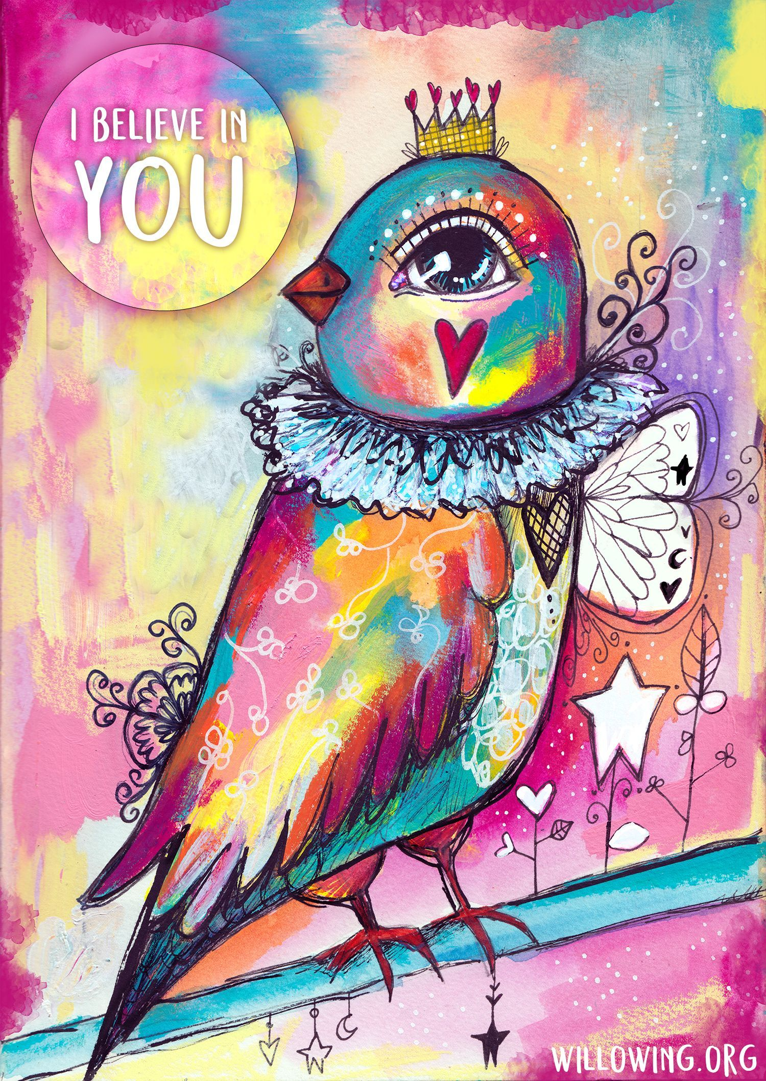 Willowing Arts I Believe In You Diamond Painting Kit - The Diamond Painting Factory