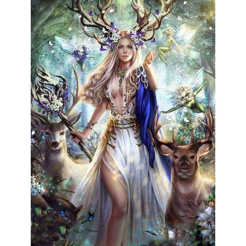 Woodland Princess Diamond Painting Kit - The Diamond Painting Factory
