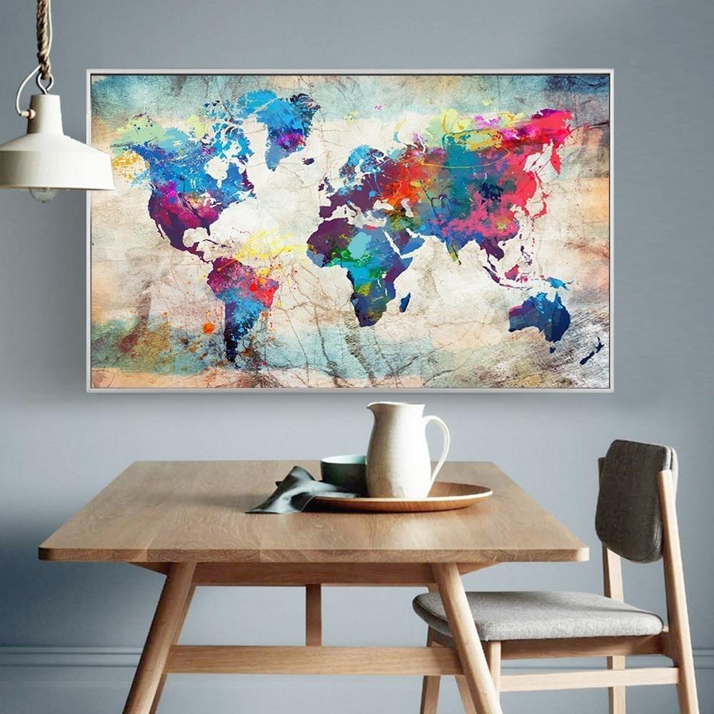 World Map 5D Diamond Painting Kit - The Diamond Painting Factory