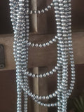 4 mm Sterling Silver Navajo Pearls