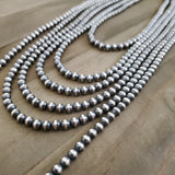 5 mm Sterling Silver Navajo Pearls