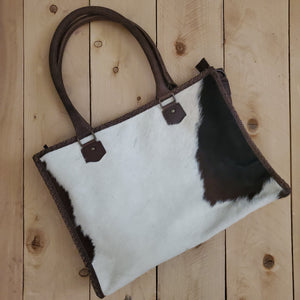 American Darling Leather and Hair on Hide Concealed Carry Tote