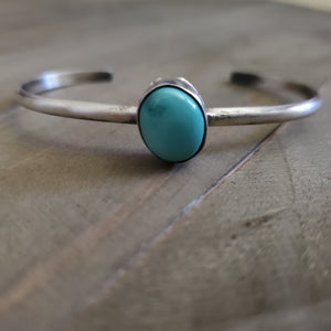 Sterling Silver and Turquoise Cuff Stacker Bracelet