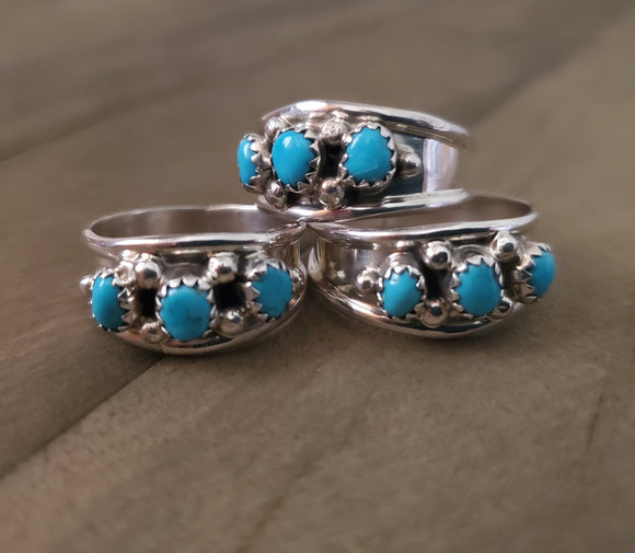 Elvira Cadman Sterling Silver and Turquoise Ring
