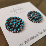 Sterling Silver and Turquoise Cluster Studs
