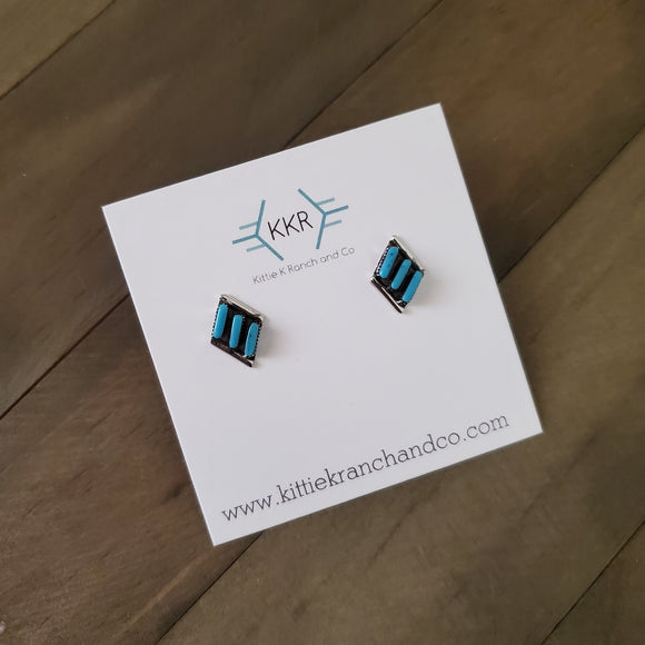 Neha Zuni Sterling Silver Post Earring Studs