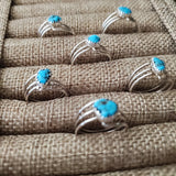 Dorothy Yazzie Round Wire and Turquoise Ring