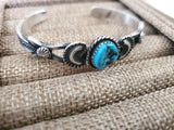 Kevin Billah Sterling Silver and Turquoise Cuff Bracelet