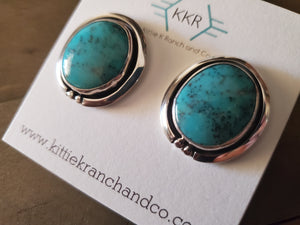 Sterling Silver and Turquoise Navajo Stud Earrings