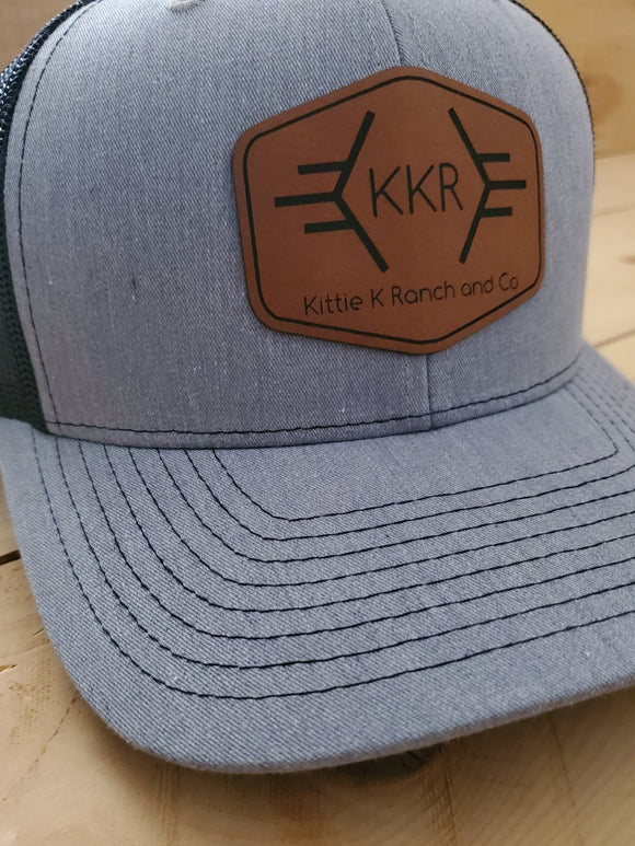 Kittie K Ranch and Co Leather Patch Snapback Hat