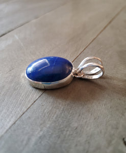 Peggy Skeets Sterling Silver and Lapis Pendant
